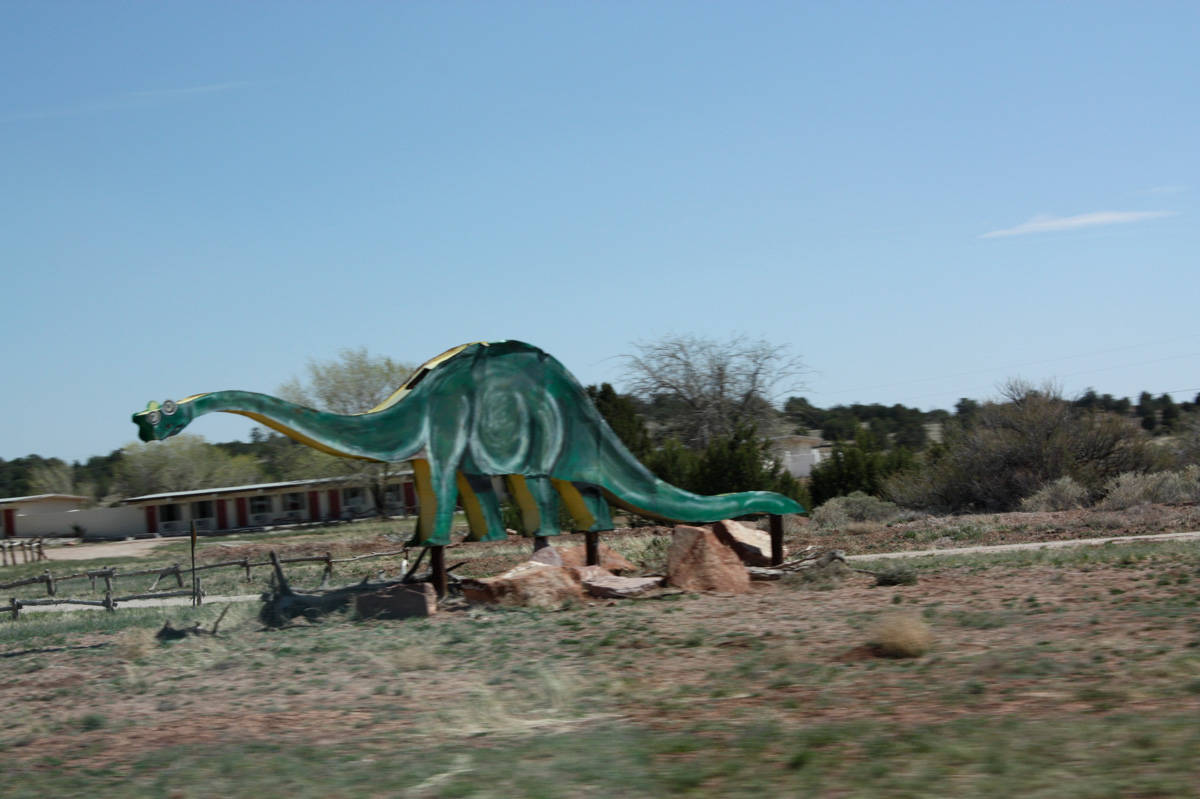 Dinosaur on route66